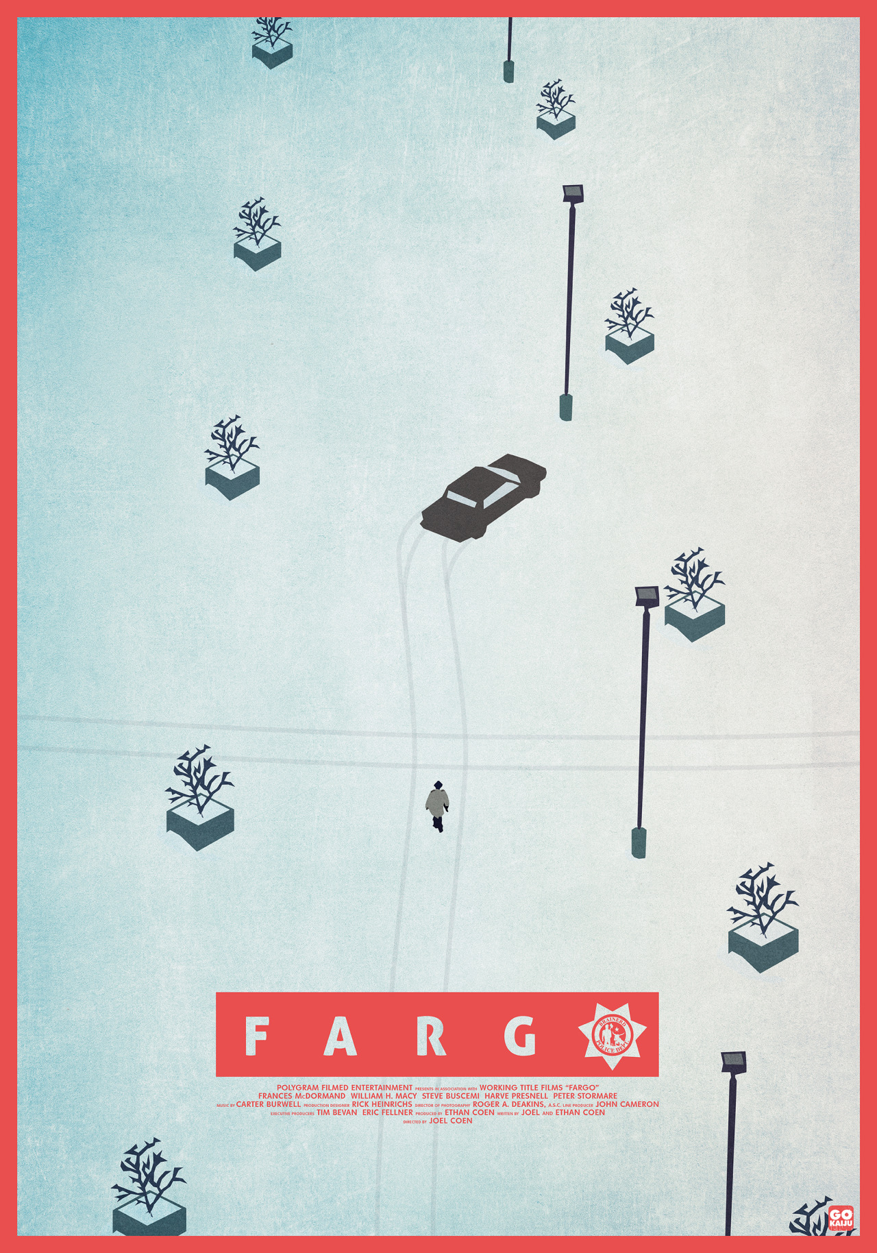 "Artwork by Gokaiju    ""Fargo"" is a reality-based crime drama set in Minnesota in 1987. Jerry Lundegaard (William H. Macy) is a car salesman in Minneapolis who has gotten himself into debt and is so desperate for money that he hires two thugs (Steve Buscemi), (Peter Stormare) to kidnap his own wife."""