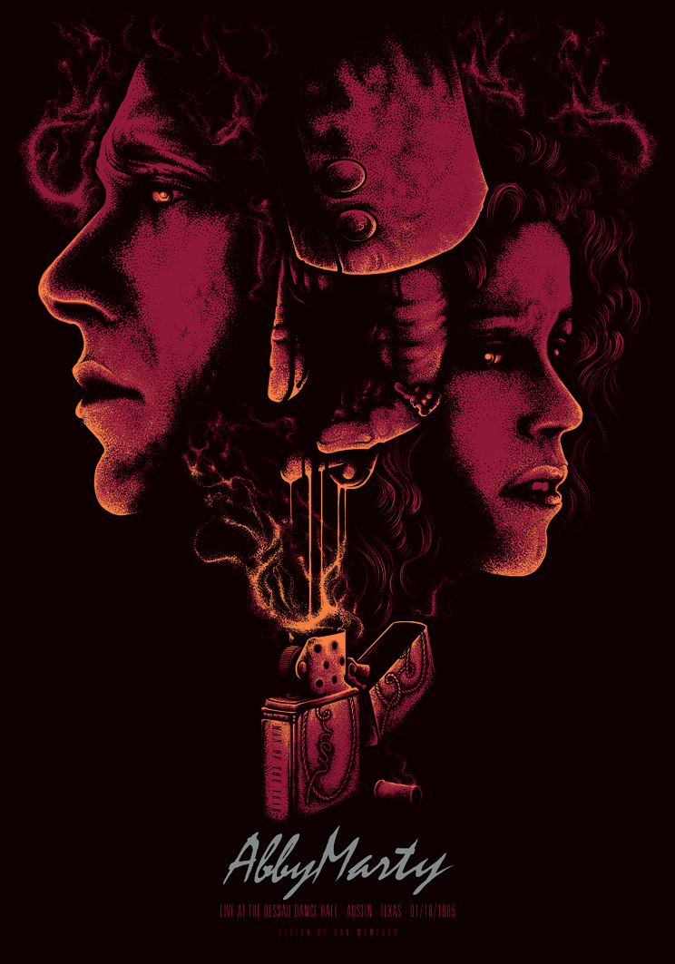 "Artwork by Dan Mumford    ""Blood Simple"" begins deep in the heart of Texas, where a jealous saloon owner hires a cheap divorce detective to kill the saloon owner's younger wife and her bartender lover. But the detective gets a better idea: he follows the two lovers, and…"""