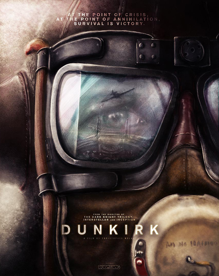 "Artwork by  Robotwig  ""About the evacuation of Allied troops from the French city of Dunkirk before Nazi forces can take hold."""