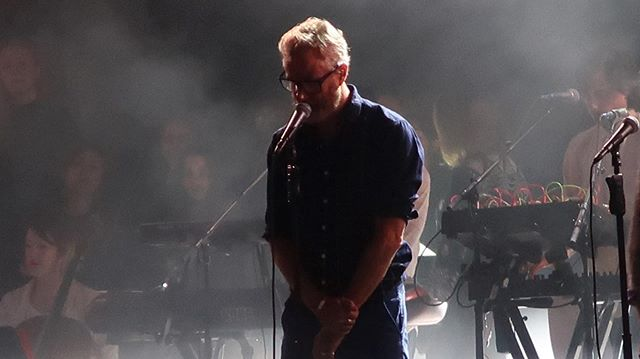 #TheNational | #ProspectPark #NYC | 6.13.19  One of the greatest American bands out there.  These guys always know how to put on a show and #MattBerninger is an all time great front man who always brings his A game.  The back up vocalists were also a terrific addition the line up.  A bit of a bittersweet concert in the sense the commute is a pain, it was pouring and umbrellas covered a good amount of the show however it was a fun event nonetheless.  Crazy how they finished touring one album already to release another & tour for immediately.  Crazy. Also crazy, stood in the same spot I did when I first saw them in 2014 at the same venue.  #prospectparkbandshell  #jorahmormont #housemormont #jcrewmanager or #professor #celebratebrooklyn