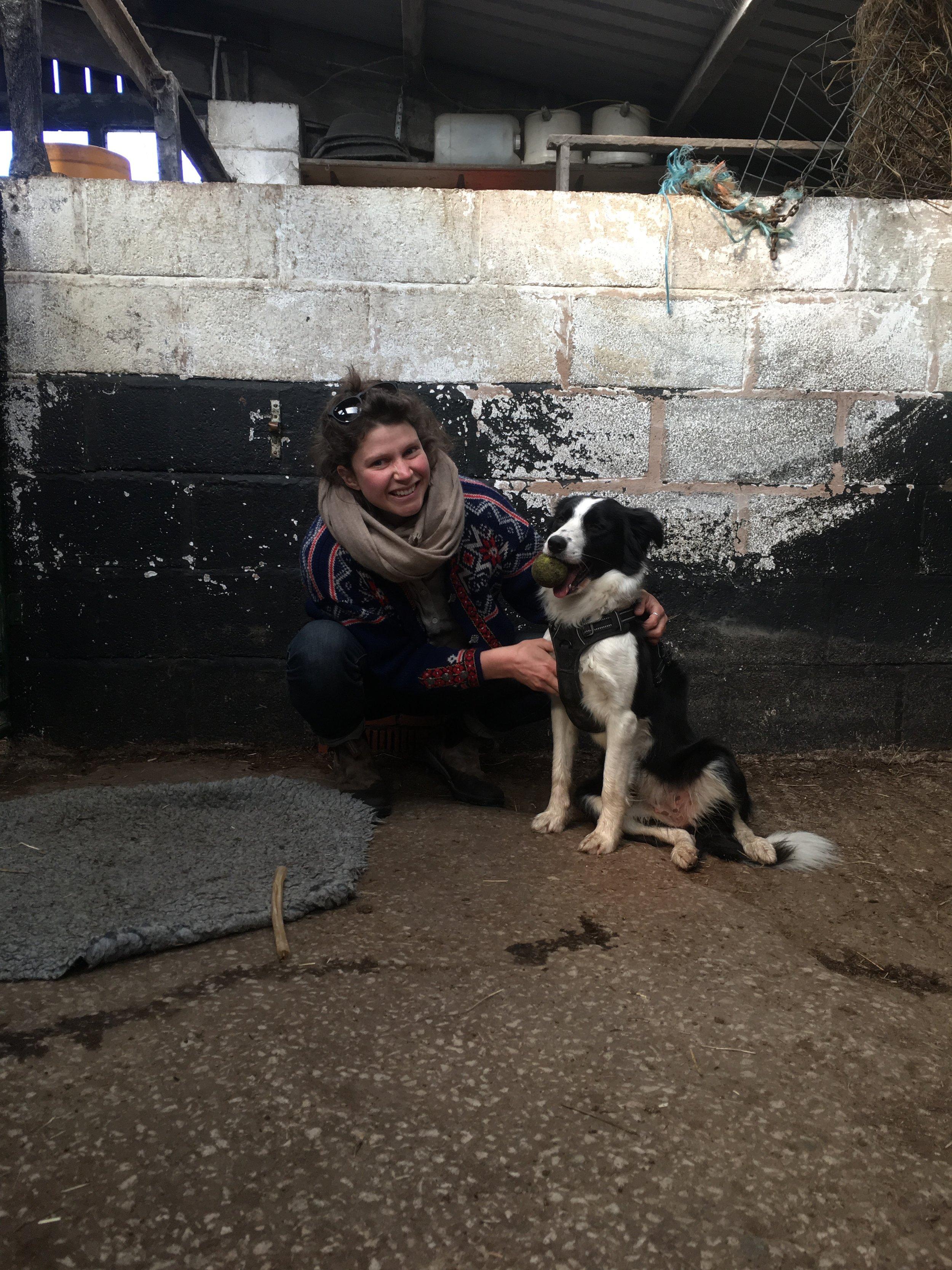 Me and Pip at Cronkshaw Fold Farm