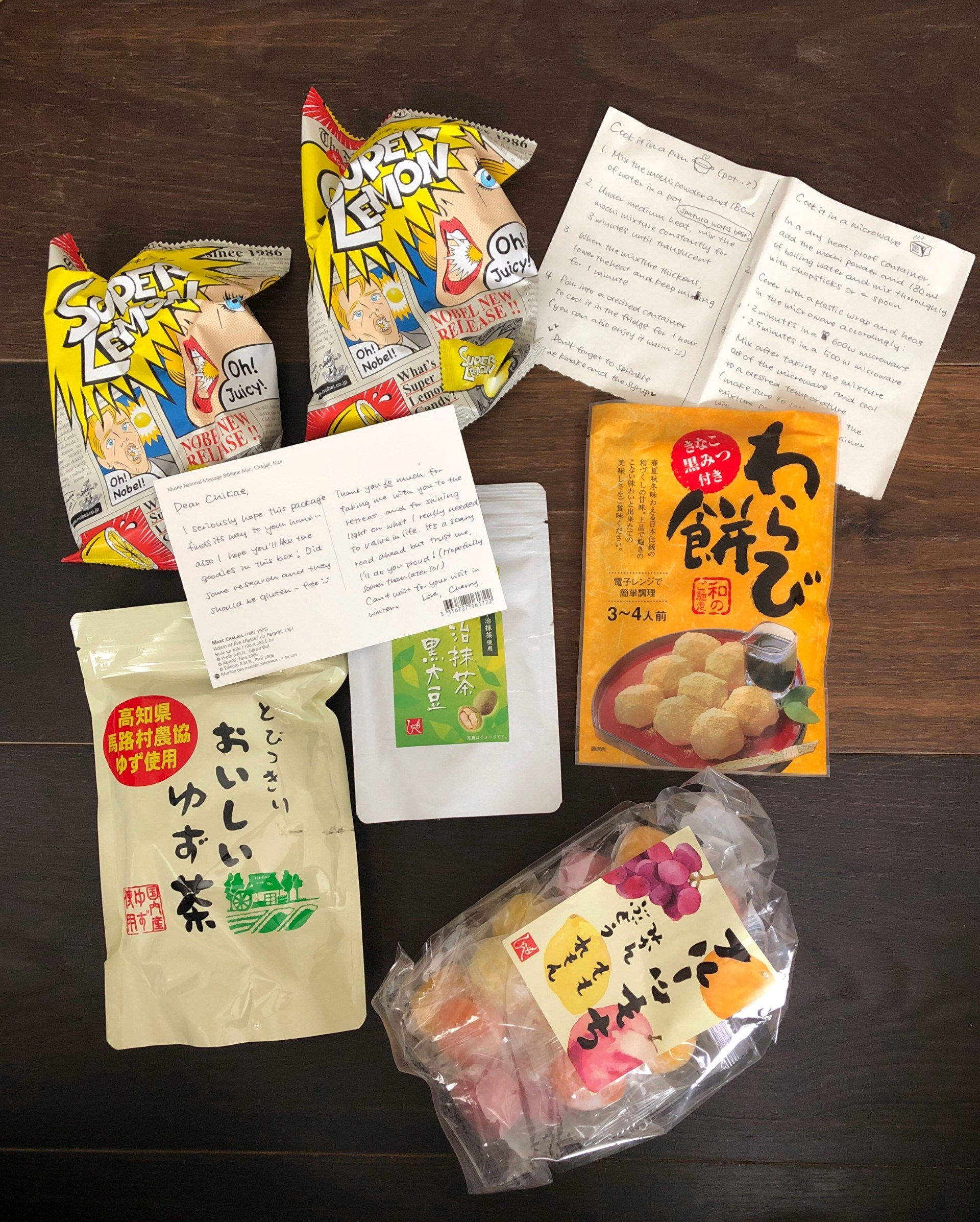 Japanese care package from tokyo.jpg