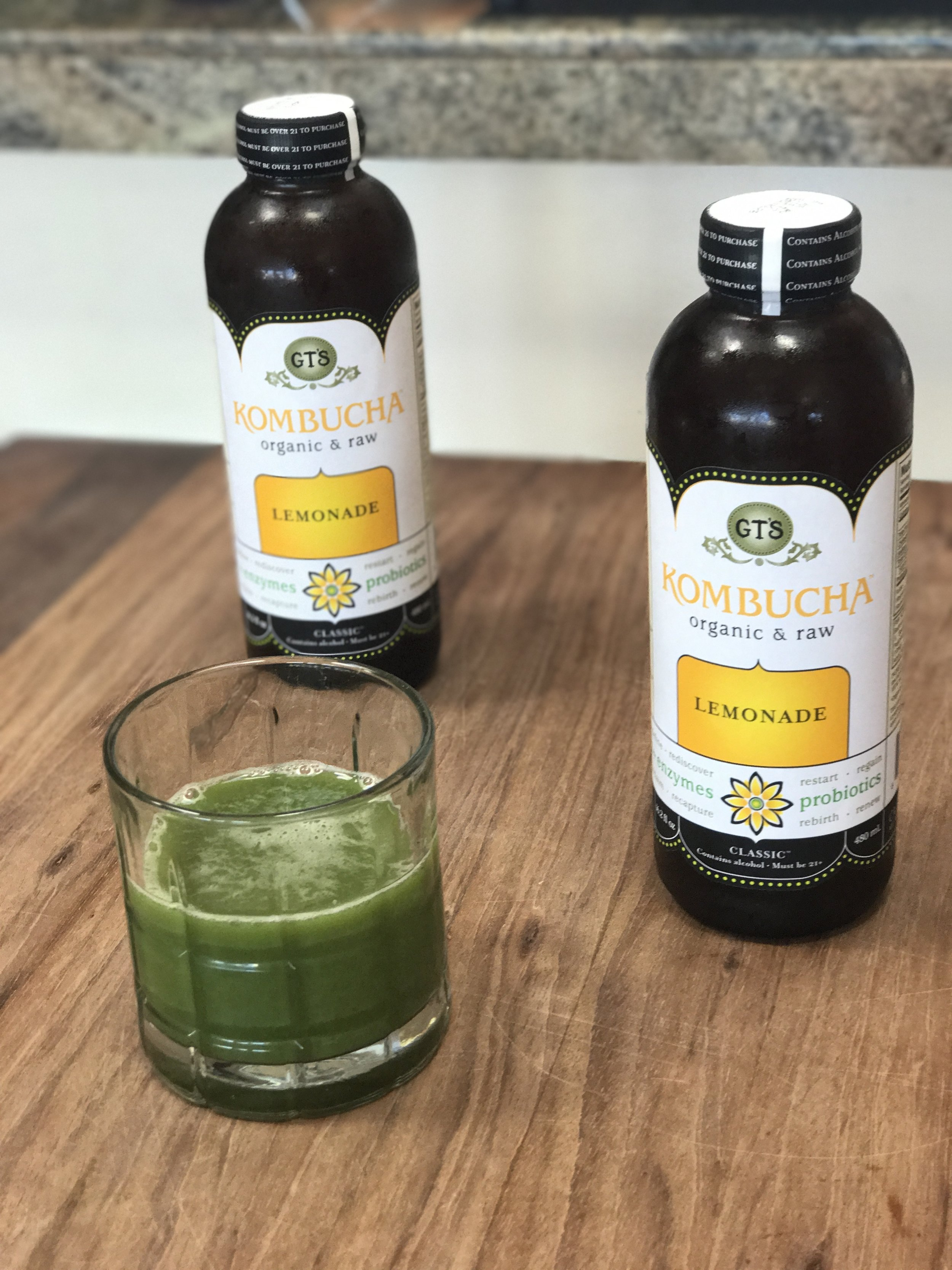 Drink one half of a  low-sugar kombucha  (like GTS) daily for tremendous probiotic benefits!