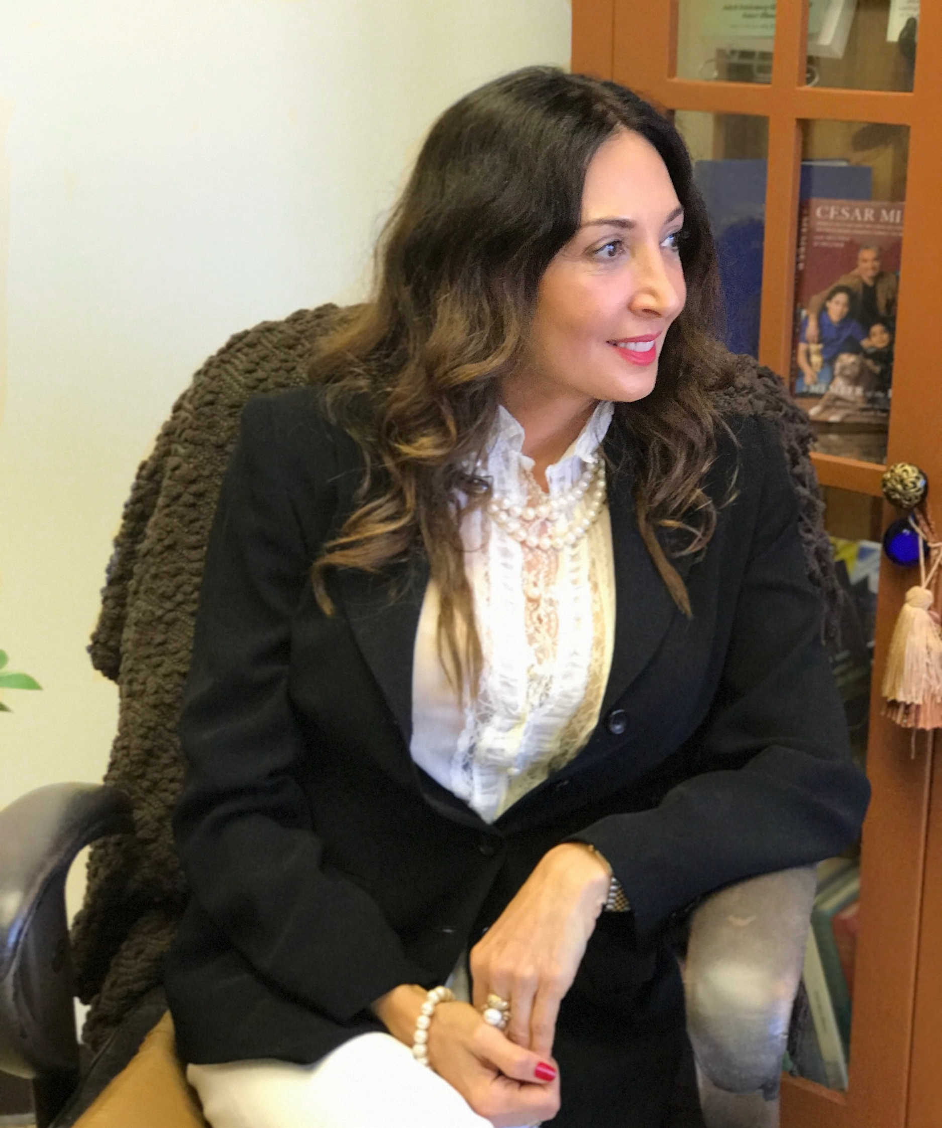 Dahlia Shemtob, H.D. in her office in Orange County, CA    Photo:  Reformation Health