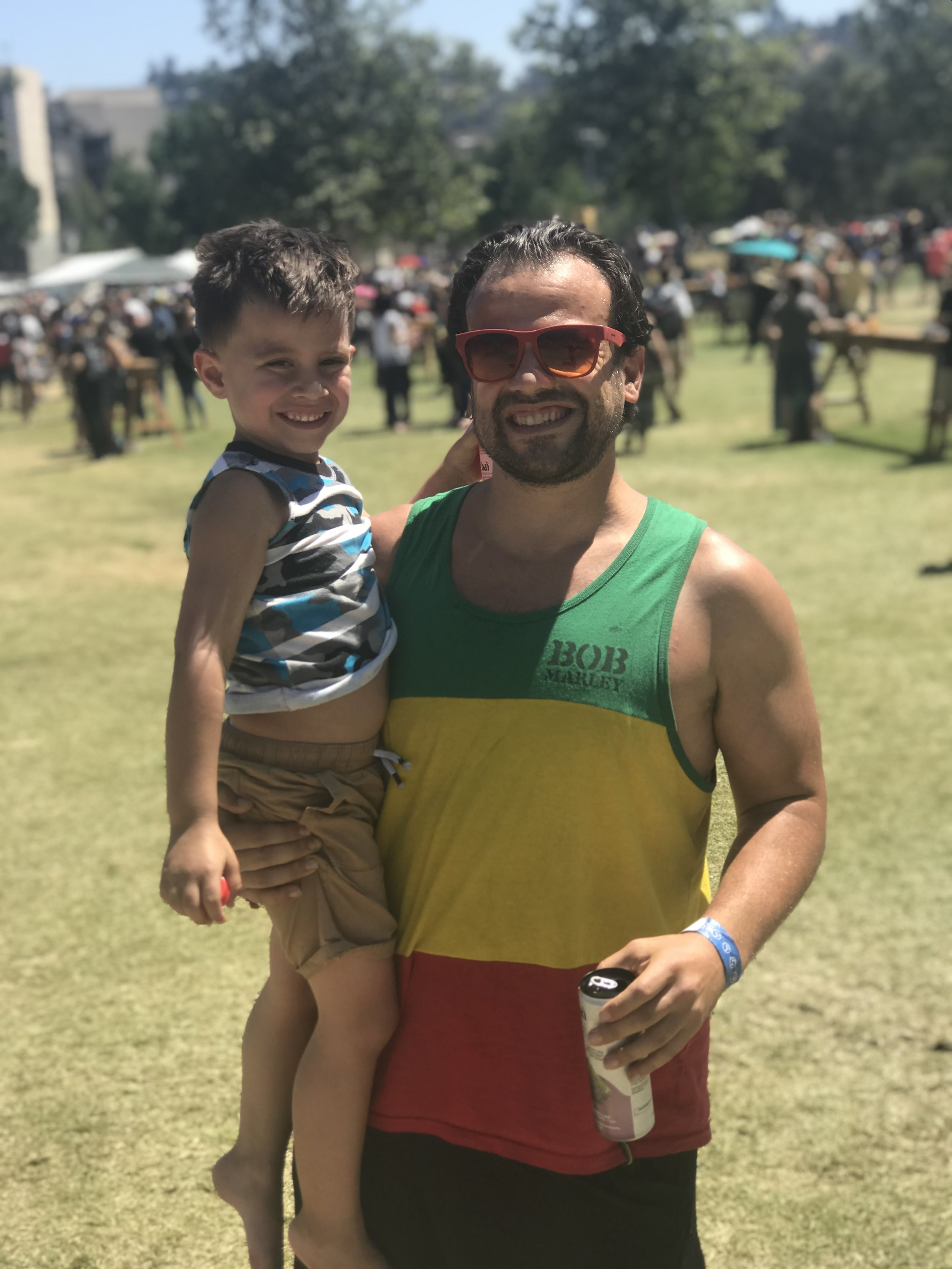 The festival is a family affair with people of all ages in attendance.