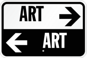 ART DIrectional Sign