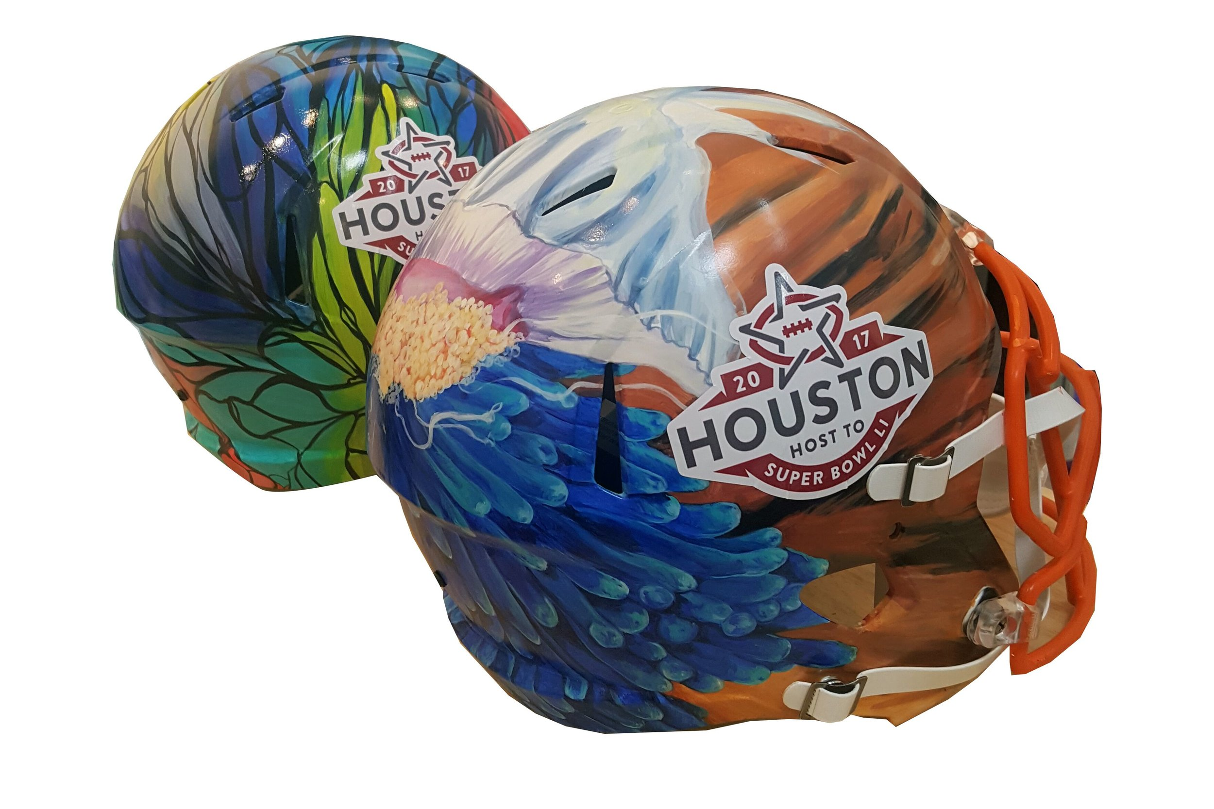 Two Super Bowl Helmet