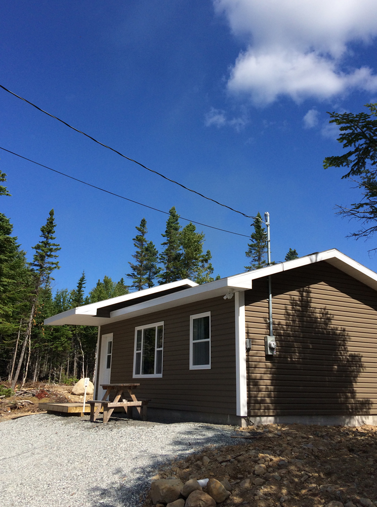 Cottage 2 is located on a private drive near the Wreck Cove General Store.