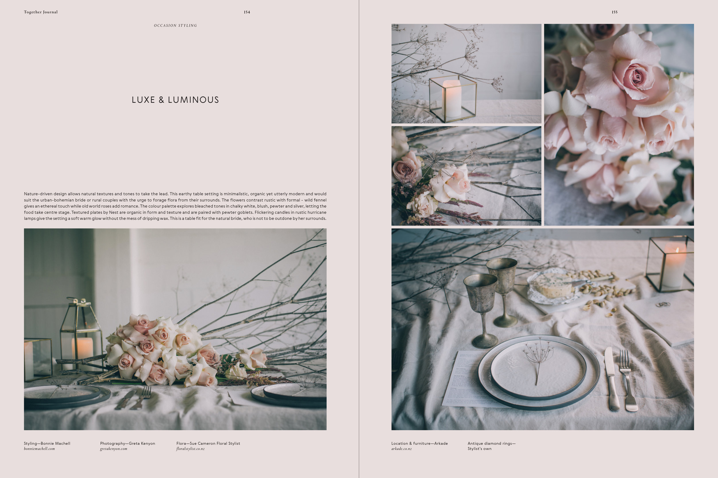Luxe and luminous   Together Journel 2017