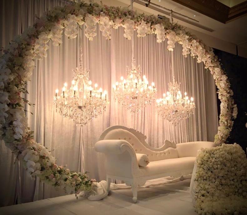 chandelier backdrop