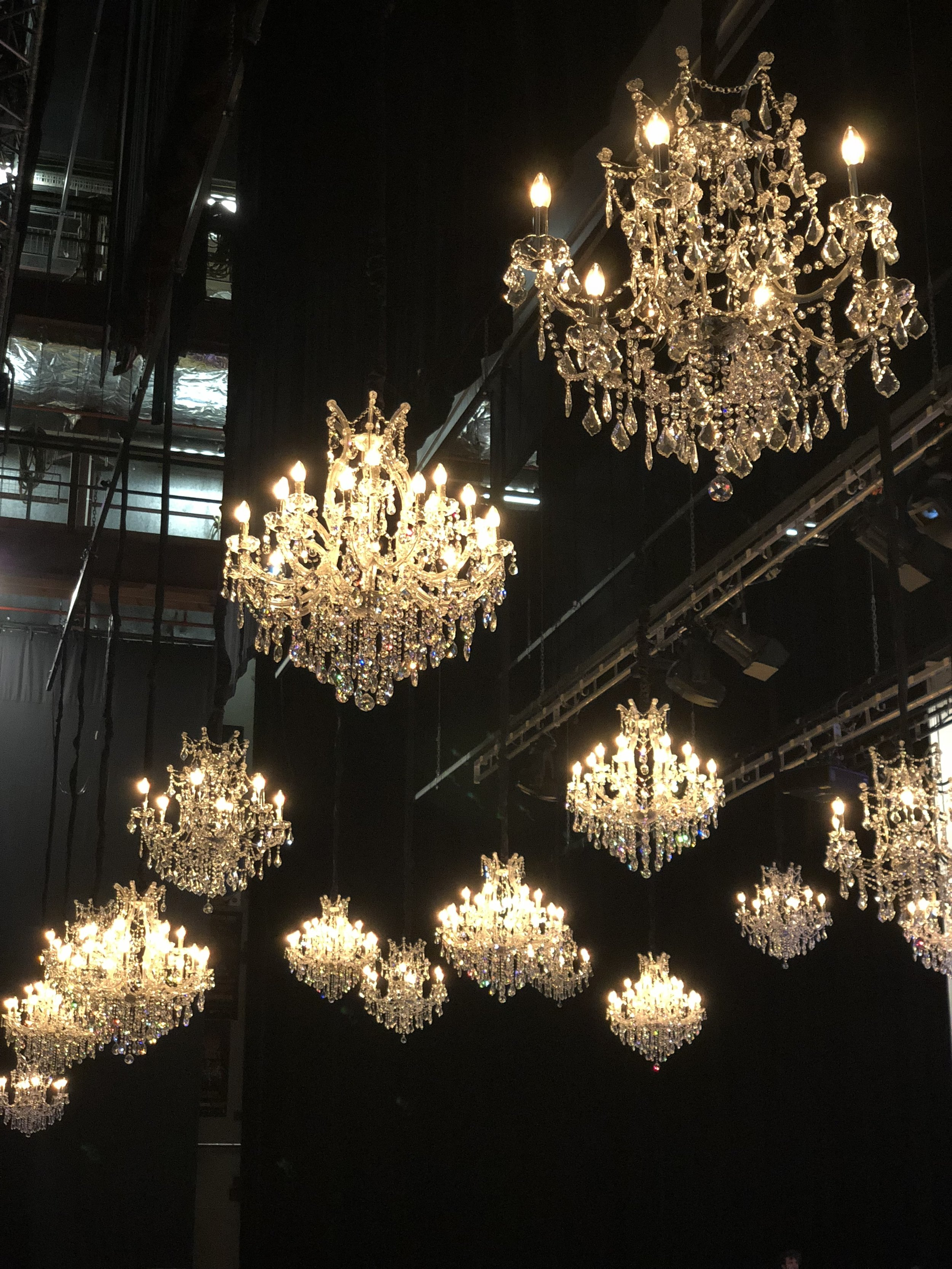 luxury crystal chandeliers $375+gst  medium crystal chandeliers $275+gst  *install only POA