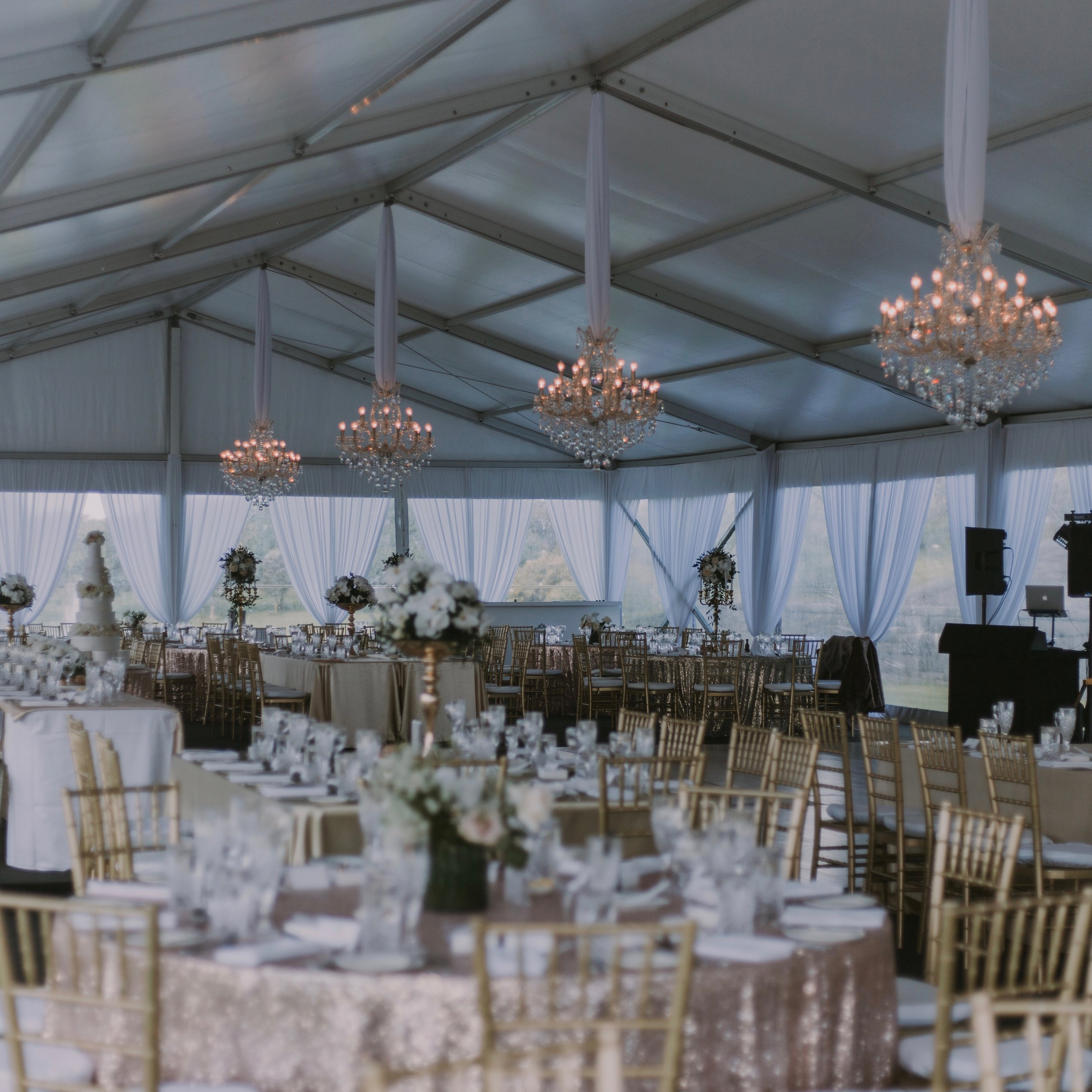 Marquee wedding   Thank you so much for the magnificent job you did with the drapery and chandelier instalments for our wedding. Our reception marquee was beautiful, you brought the class and elegance we had hoped for. I had a vision for what I wanted and you far exceeded my expectations.