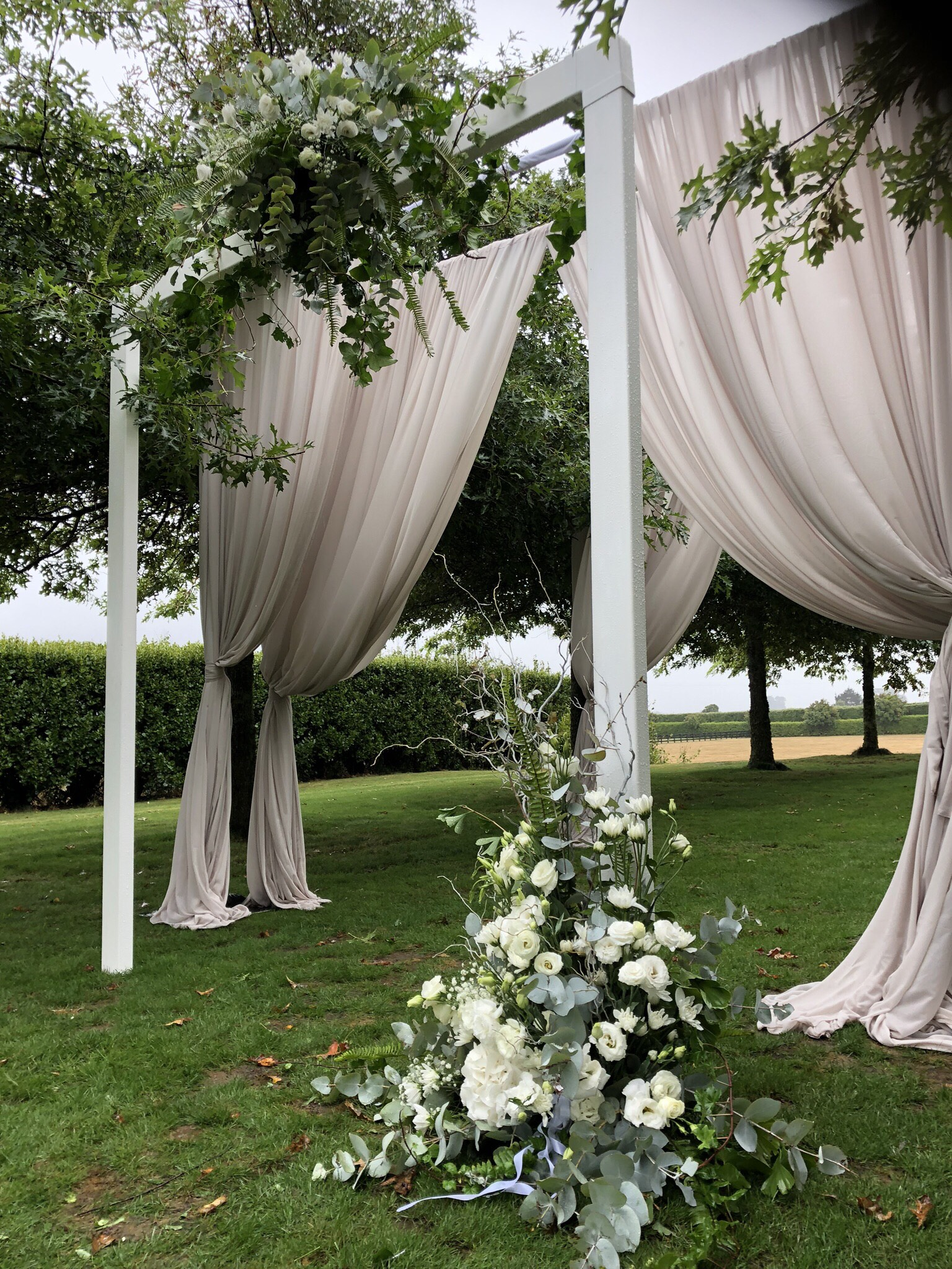 ceremony draping in latte