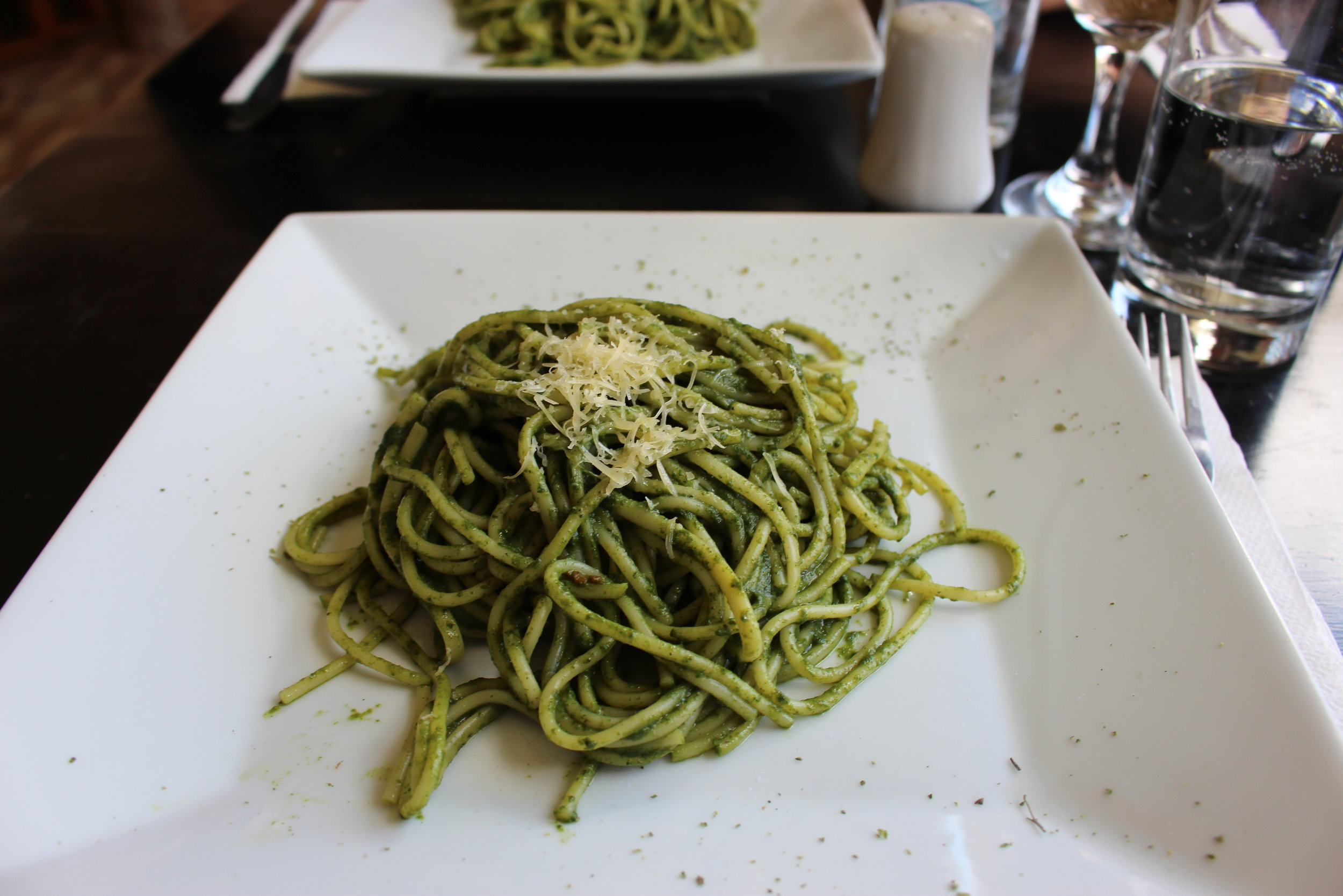 For an entree I got pesto pasta. It was delicious and probably the only meal I actually finished in Peru, which wasn't a good thing.