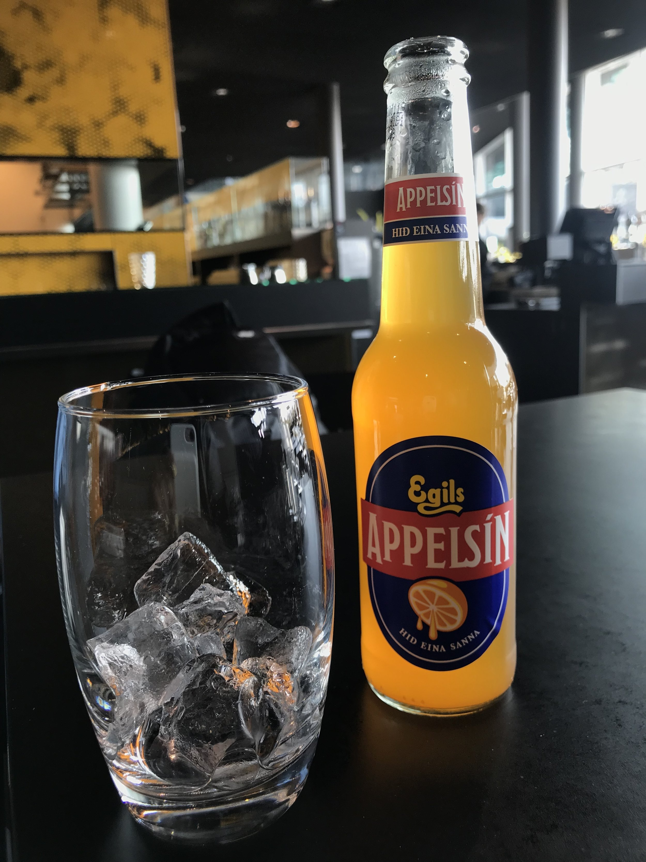 So obviously, this is a drink and not food, but this was an Icelandic orange soda. I had to commemorate it because it was the first thing I had when I got to Reykjavik. It was at the Harpa Museum restaurant. Highly recommend the Harpa if you ever visit.