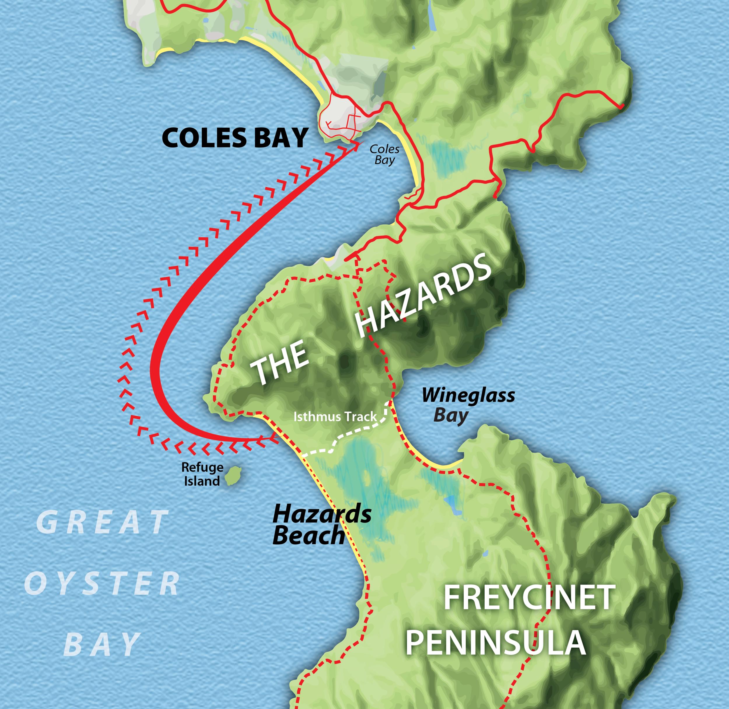Freycinet Map
