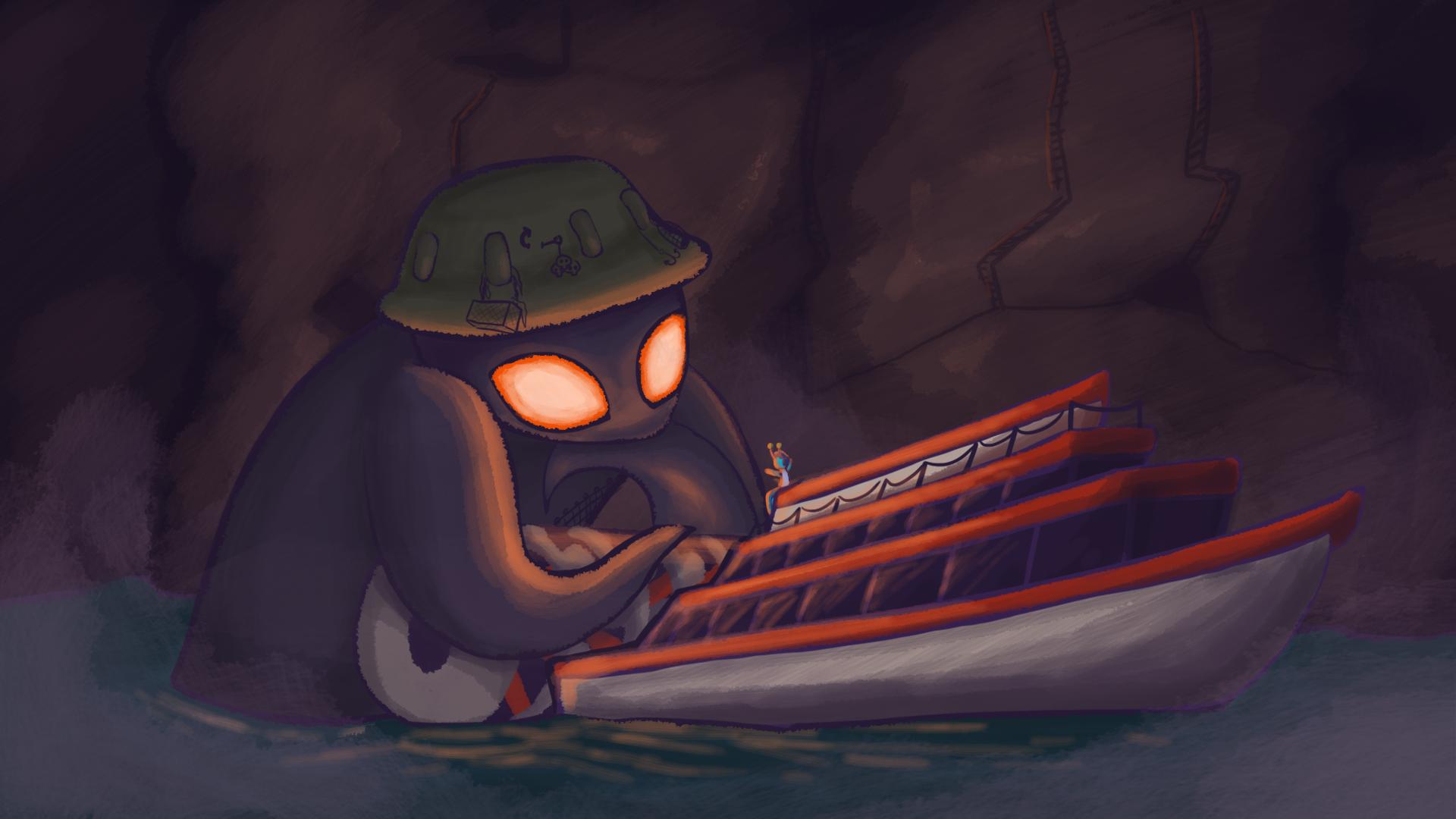 Ildra vents to the Boatman.