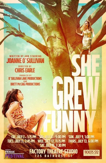"Poster from Joanne O'Sullivan's Toronto Fringe Theatre Show, ""She Grew Funny."""