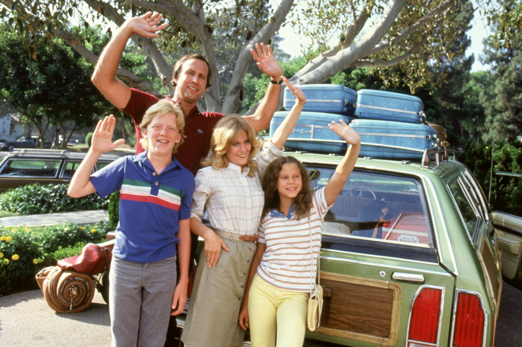 The Griswold family on their way to hit the road in National Lampoon's Vacation (1983)