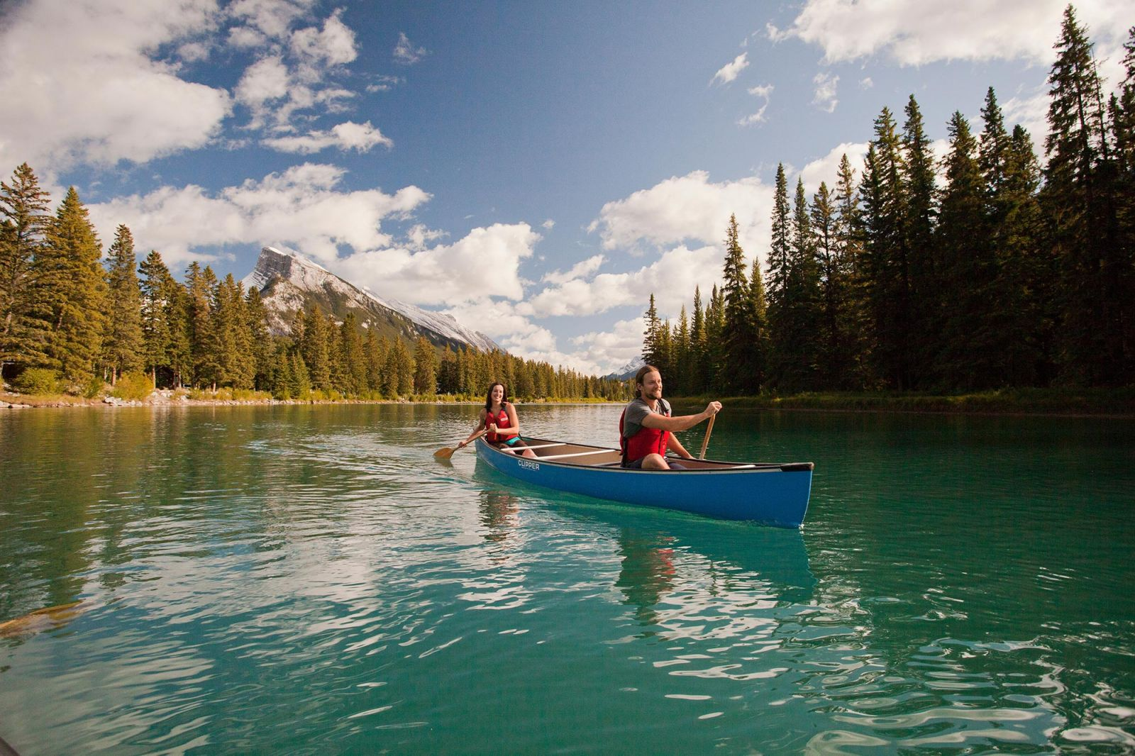 Canoeing in Banff, Alberta, Canada