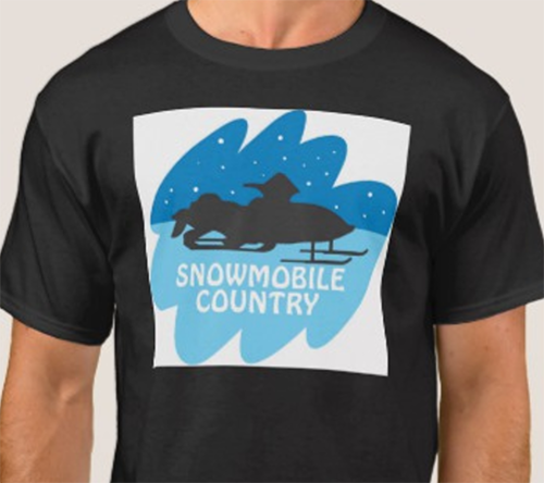 Snowmobile design with image saved as a JPG looks awkward on a non-white t-shirt