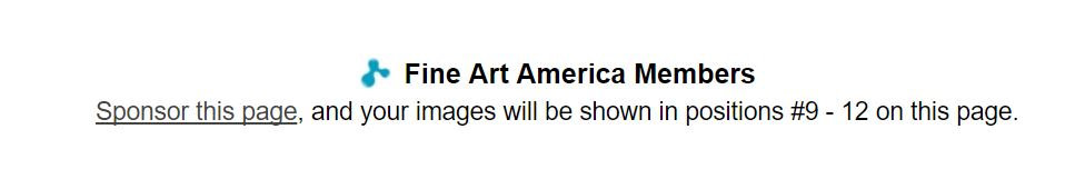 Fine Art America Sponsor this Page notice