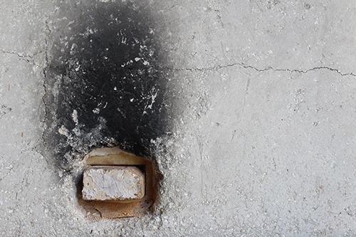 Wood fired kiln - detail