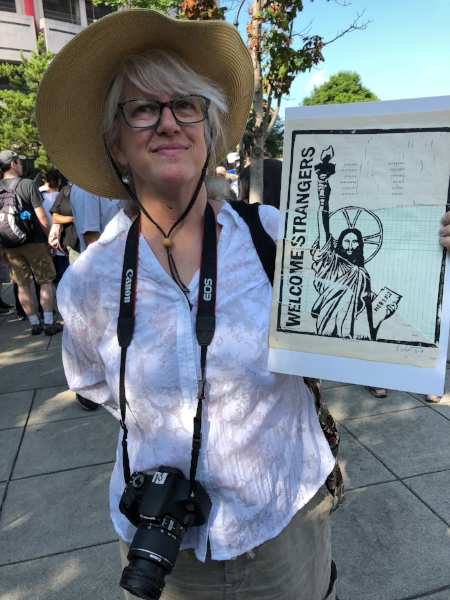 Me at the Families Belong Together Rally in Atlanta