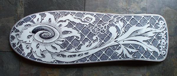 Customize a skateboard with Sharpies