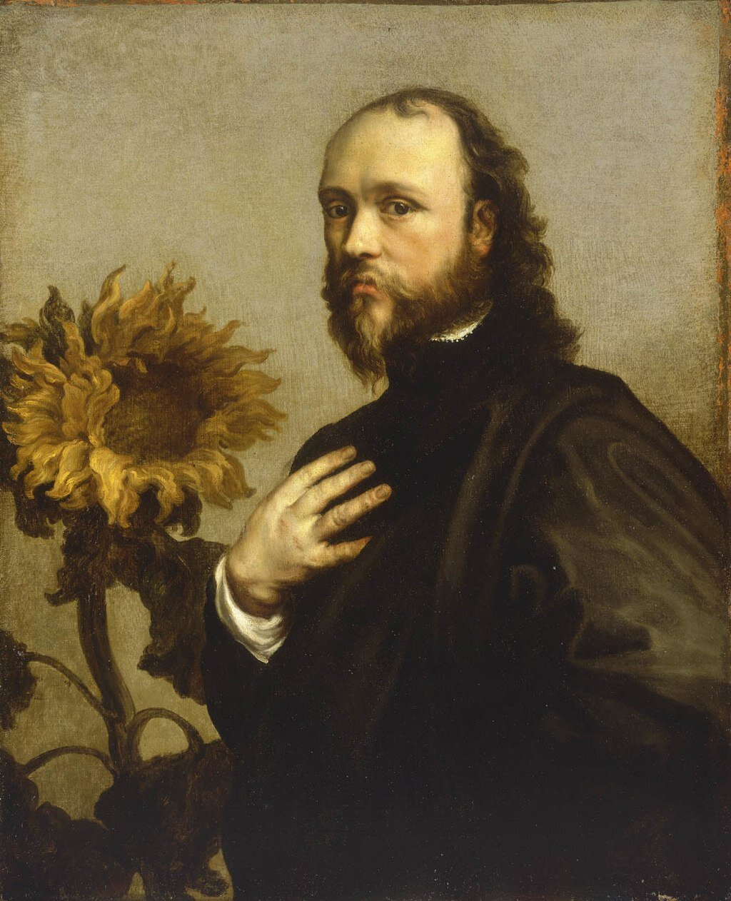 Portrait of Sir Kenelm Digby with a Sunflower by Anthony Van Dyck