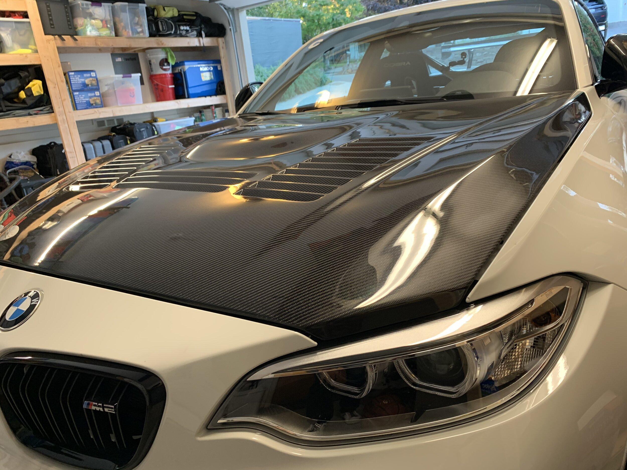 Agency Power carbon fiber vented hood