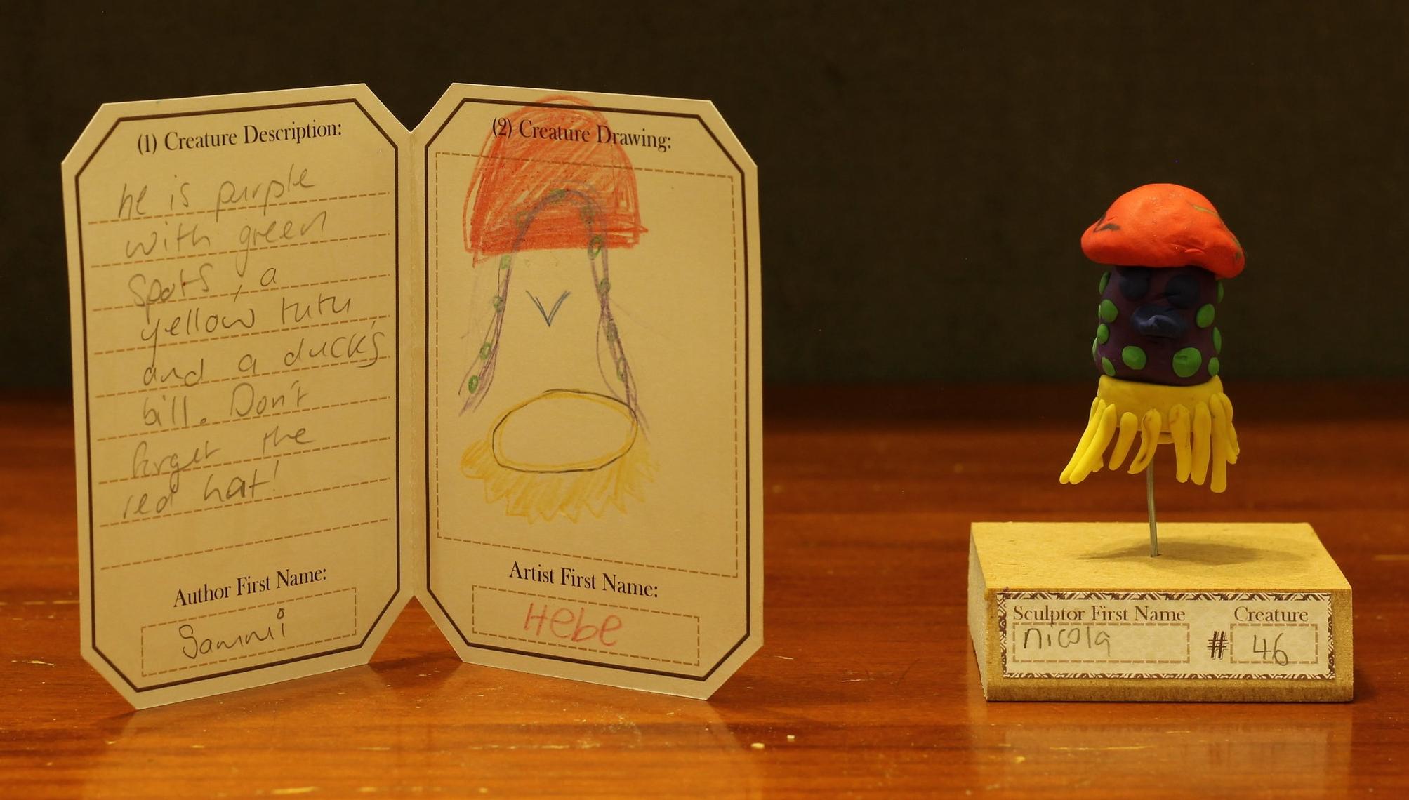 Example Creature: CC46. Author = Sammi, Artist = Hebe, Sculptor = Nicola
