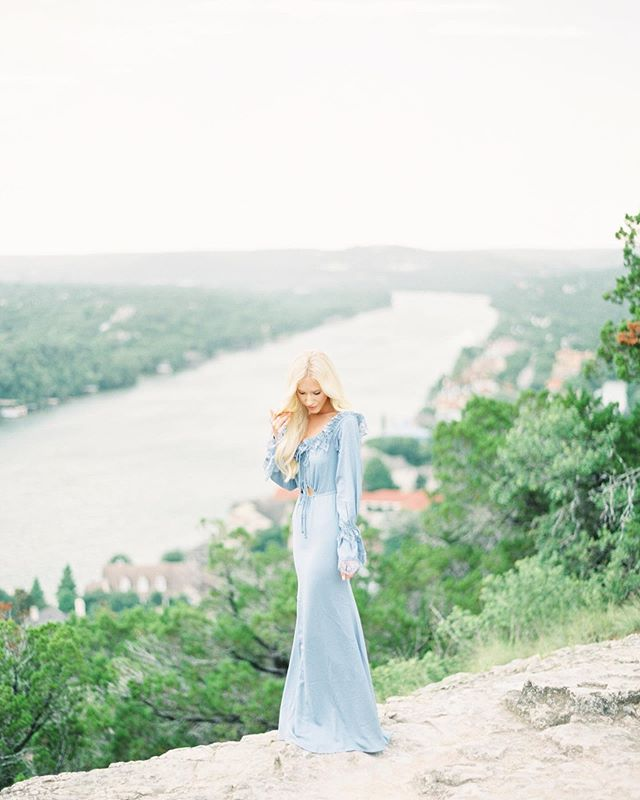 We are finding fun ways to explore & location scout in Austin! This includes: not always being behind the camera (tough for us photogs), wearing a dress you haven't had an occasion for, & trusting your husband with your favorite camera while you handle the settings. #contax645 #photovisionprints #fuji400h #mtbonnell