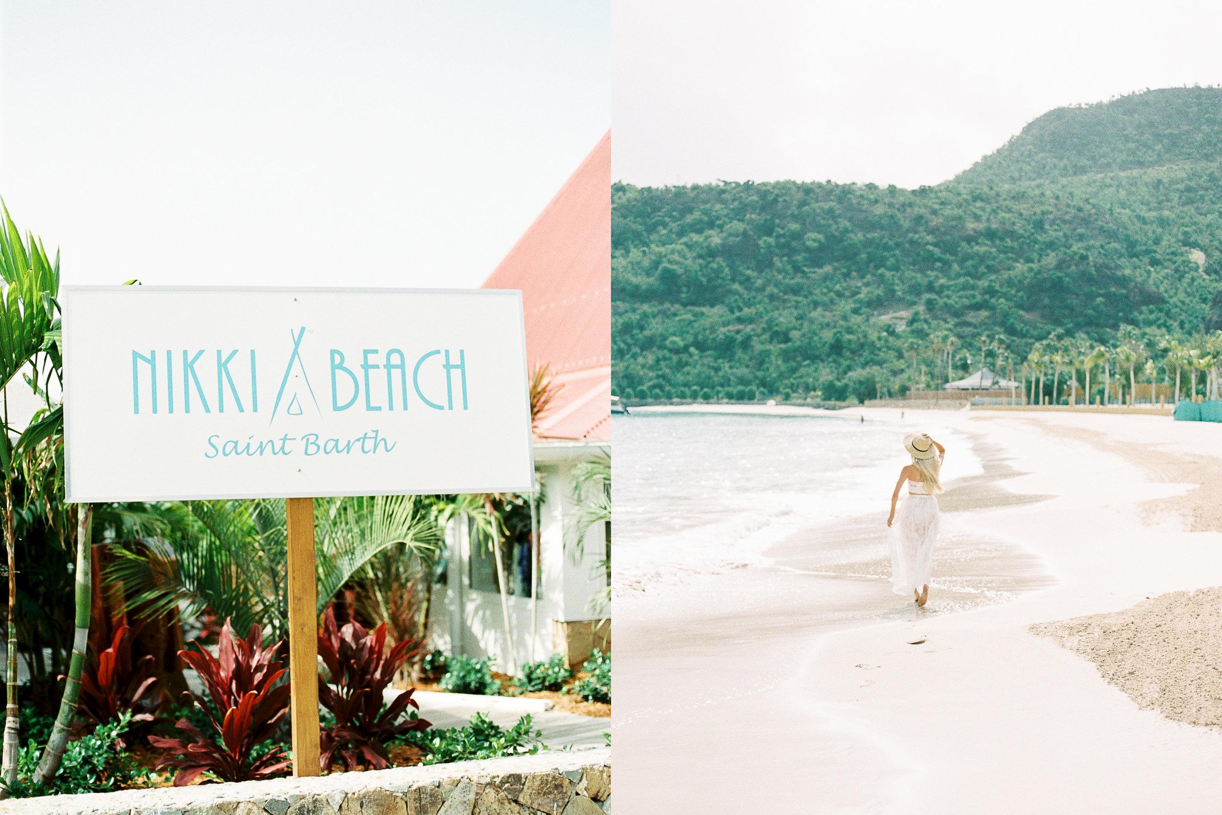 Left: Nikki Beach / Right: St. Jean (the beach Nikki Beach is on)