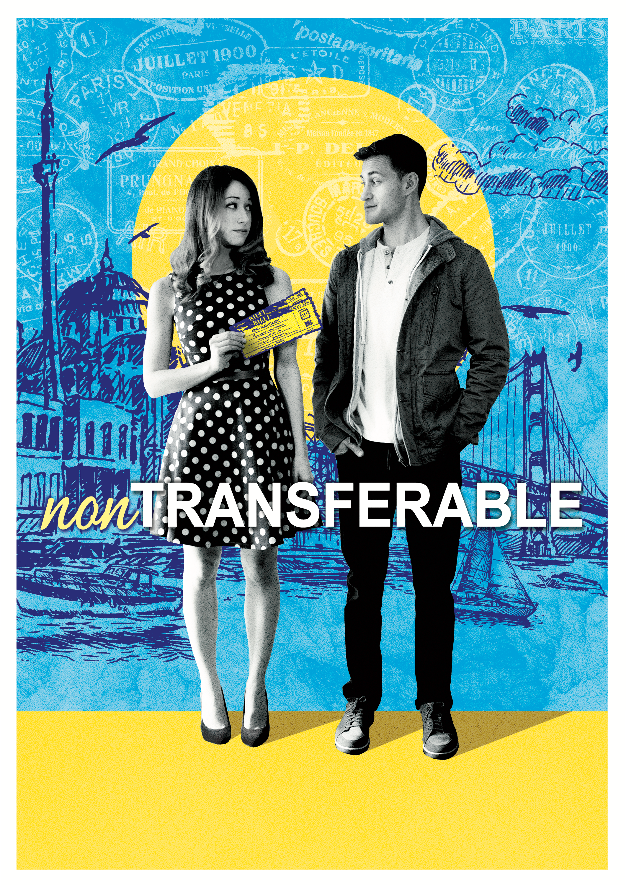 non-transferable - Stuck with non-refundable travel reservations in her ex-boyfriend's name, Amy (Ashley Clements) decides if she can't change the ticket, why not change the guy?