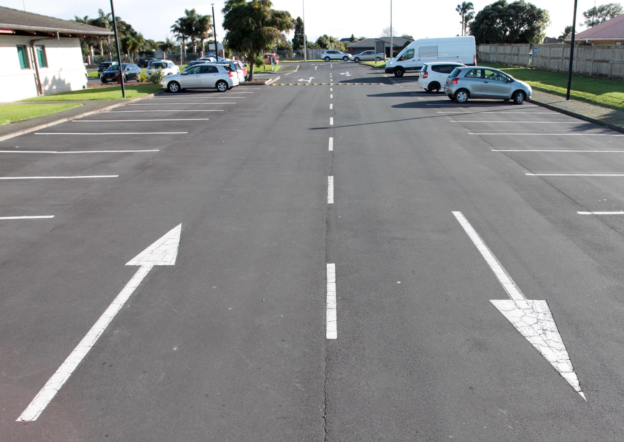 Car Park Carpark White Lines Arrow