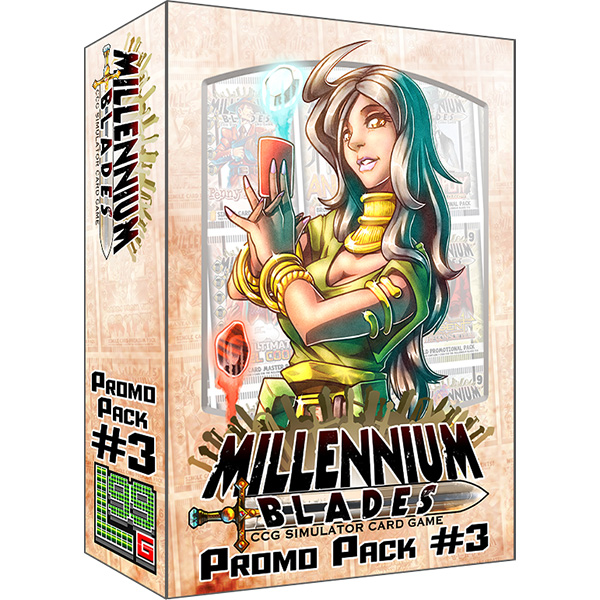 Fusion - Introducing 2 New Characters for Millennium Blades! This is an Expansion. Millennium Blades is required to play. Features two new characters: Raritti Sikhar, Card Fusion Master; and Shafille DuCarte, CCG Archaeologist; as well as a bunch of extra promos and bonus deckboxes!