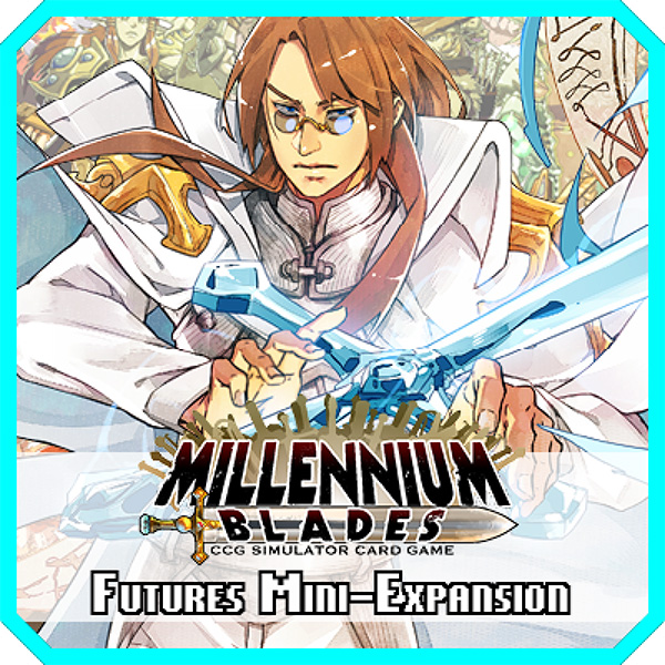 Futures - Bring future Level 99 Games characters to Millennium Blades! This is an Expansion. Millennium Blades is required to play. Features 54 new cards from upcoming games such as Seventh Cross, Esper X, Sellswords Olympus, Tomb Trader, and more!RELEASES Q4 2017
