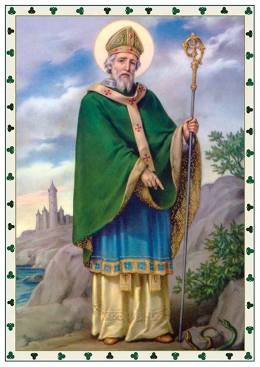 Thánh Patrick đuổi toàn bộ rắn ra khỏi Ireland (nguồn ảnh: Google)