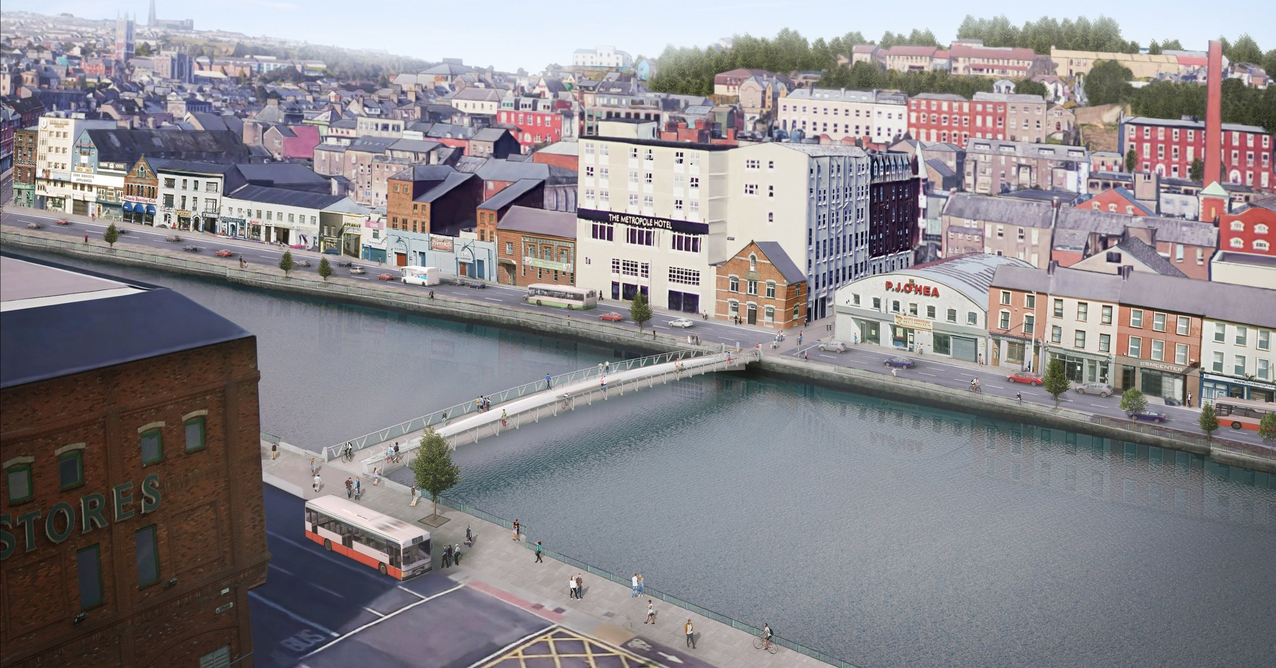 """Cork City là thành phố nhỏ, đậm chất """"thị trấn"""" của châu Âu từ phố xá, cách bài trí của các hàng quán và chỉ tầm 9 giờ tối phố phường đã vắng. Nguồn ảnh: engineersjournal.ie"""