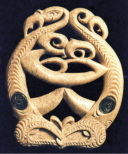 A bone carving which is simply a decoration, unless the details of its constituent parts are explained to reveal the story it represents