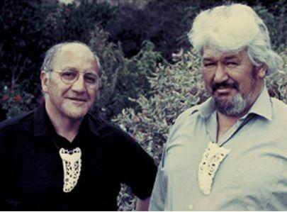 Sir Tīpene O'Regan (left) and Bill Solomon