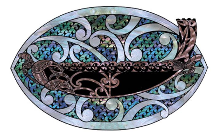 Illustration of the waka Te Awatea