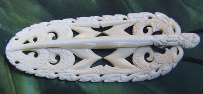 A carving designed to represent the spirit of adventure