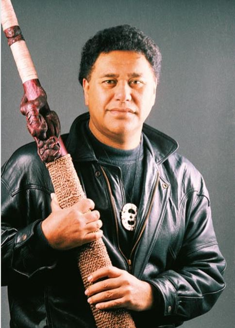 Dr Hirini Melbourne with his púkáea Tamanui.  Photo: University of Waikato