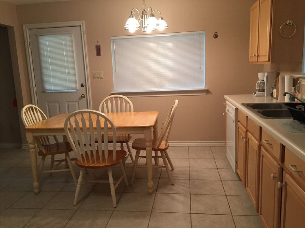 Kitchen table and countertop
