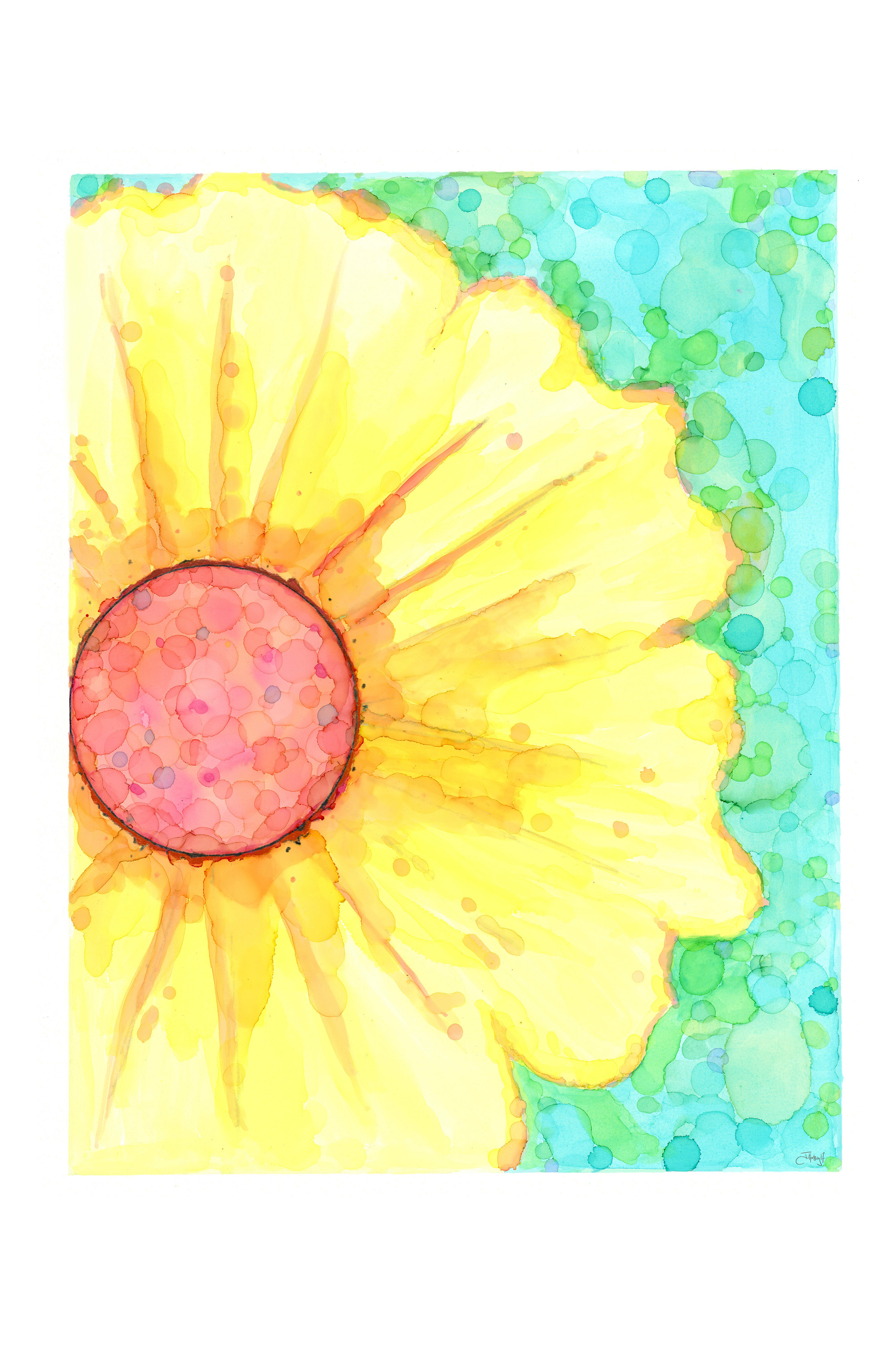 Daisy Day - Art Print on Paper or Canvas