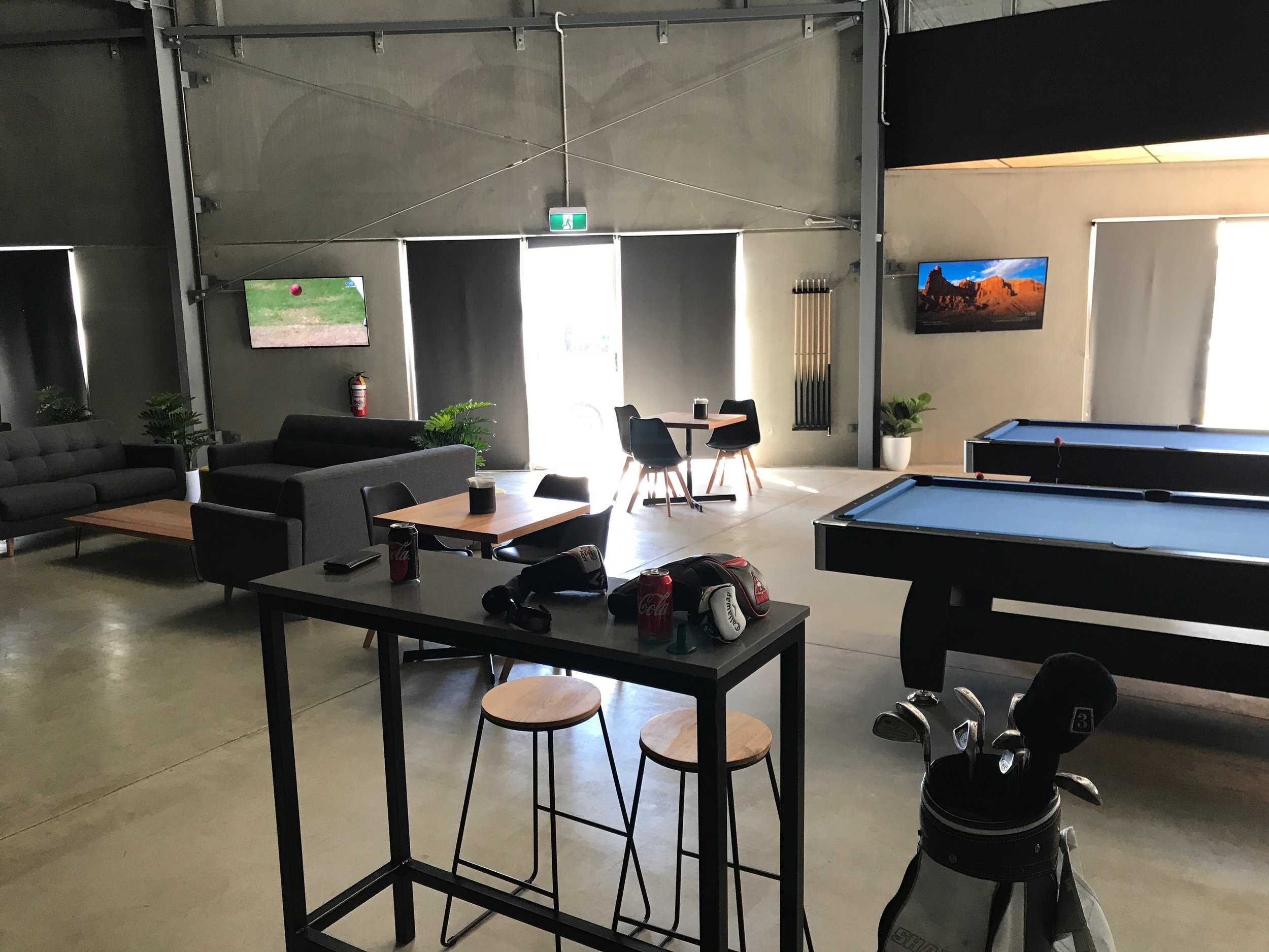 Inside Instagolf - Great place to have a few drinks and relax on a hot Bendigo day.
