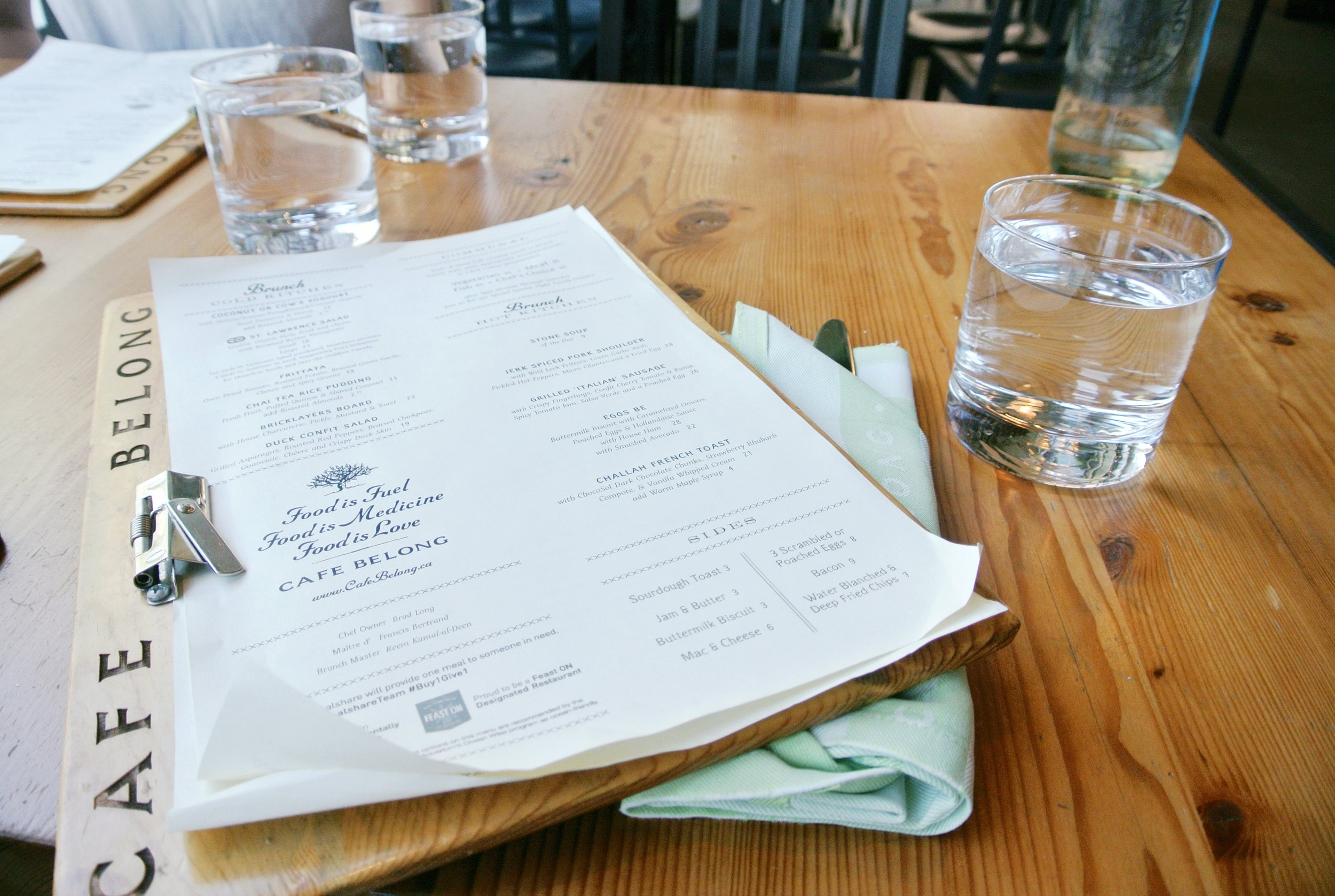 Café Belong  Menu | ebbony&lune