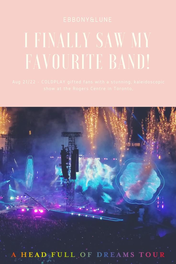 Coldplay Toronto 2017 Tour